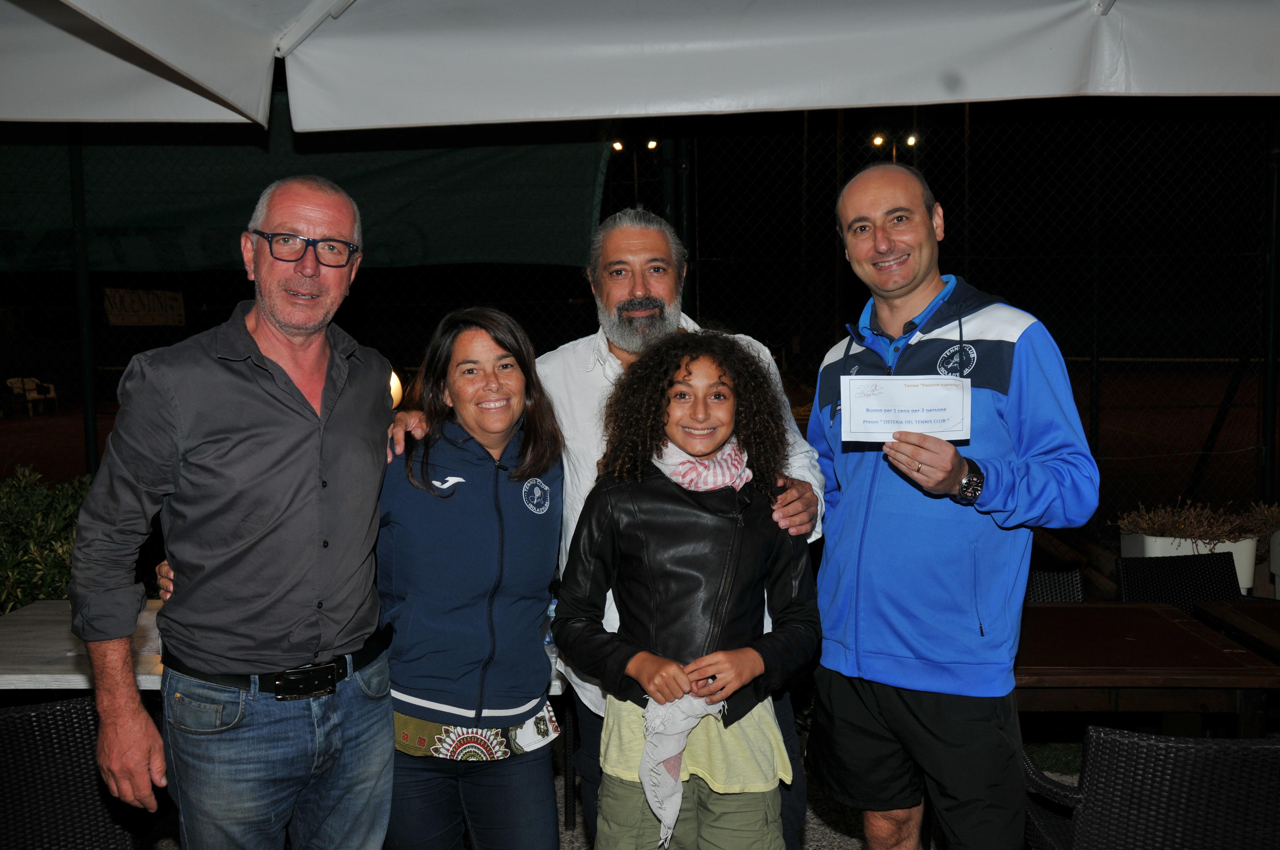 Fortunato estratto vincitore della cena per due presso l'Osteria del Tennis Club: Giovanni Nannelli