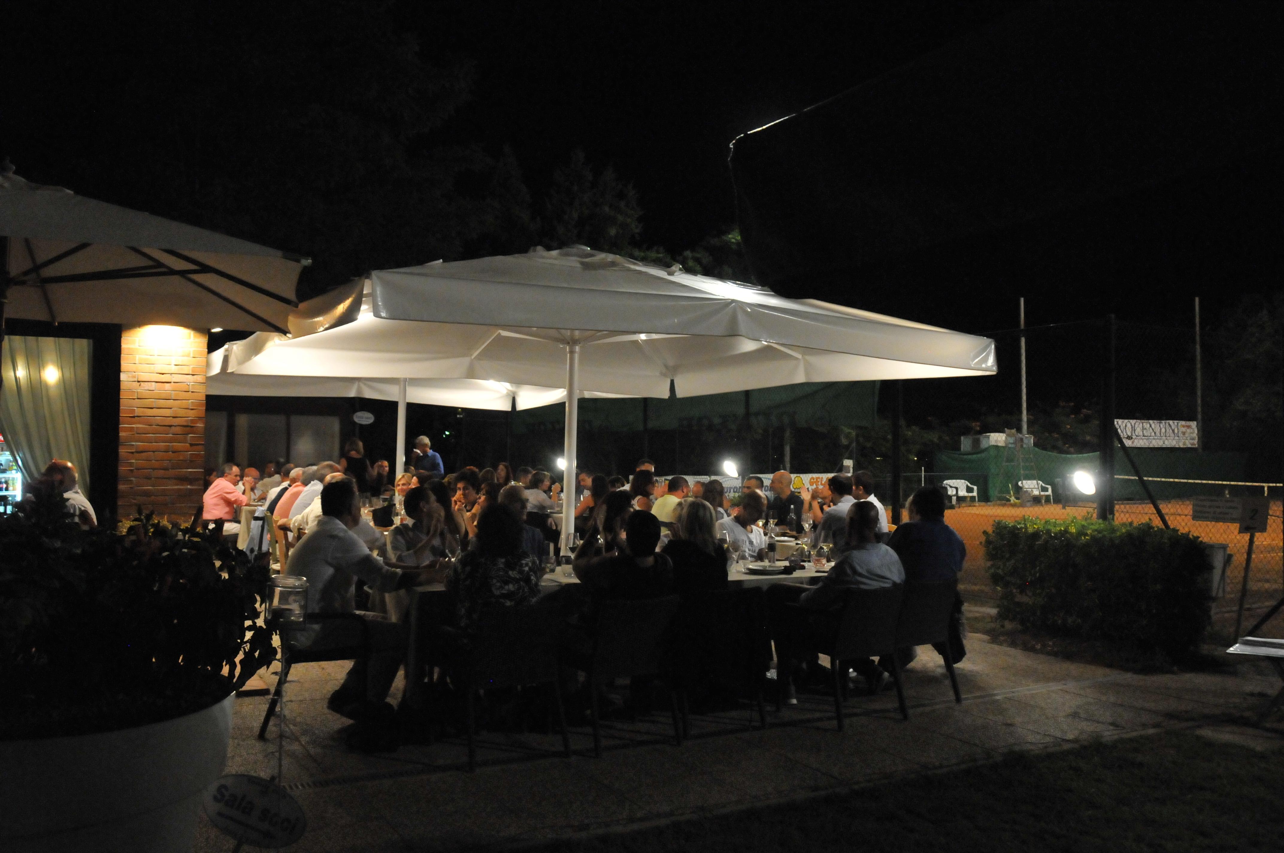La cena sociale all'Osteria del Tennis
